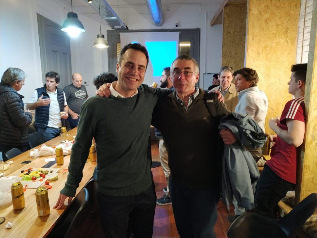 Sebastián Hahn y Mariano Molinari en Meetup de Argentina Virtual